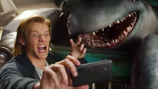 "A scene from the movie ""Monster Trucks."""