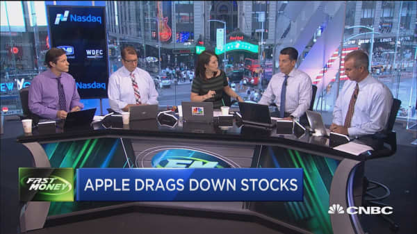 Apple slips on GfK report, tanks the market