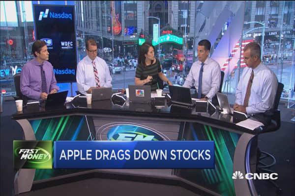 Apple slips on GfK report, tanks the market