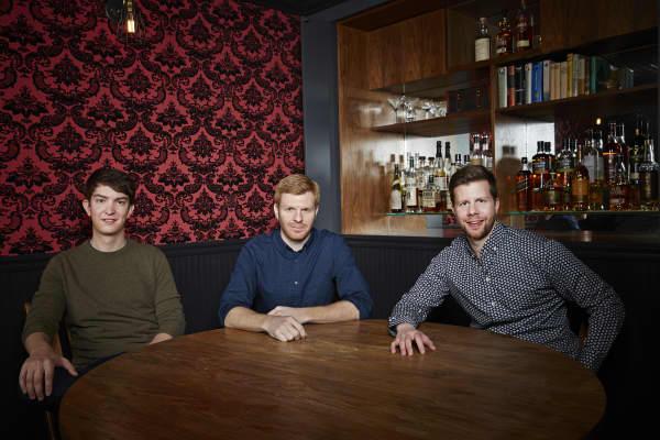 Weebly co-founders, David Rusenko, Chris Fanini and Dan Veltri