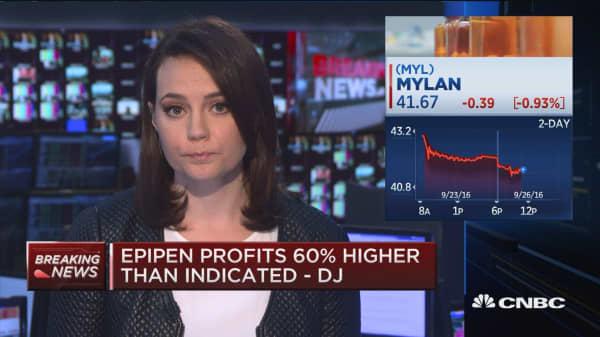 Mylan EpiPen profits higher than it told congress - DJ