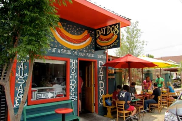 Georges' first original Dat Dog location opened out of a 475-square-foot shack in 2011.