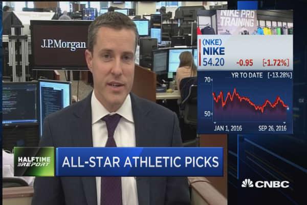 Nike lower ahead of earnings