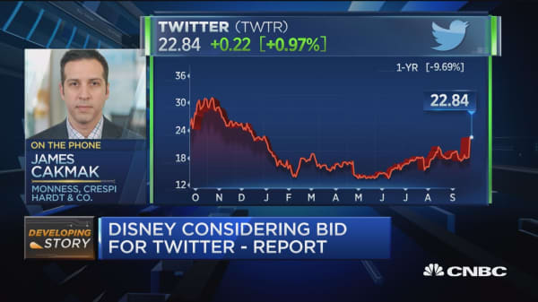 Disney considering bid for Twitter -Report