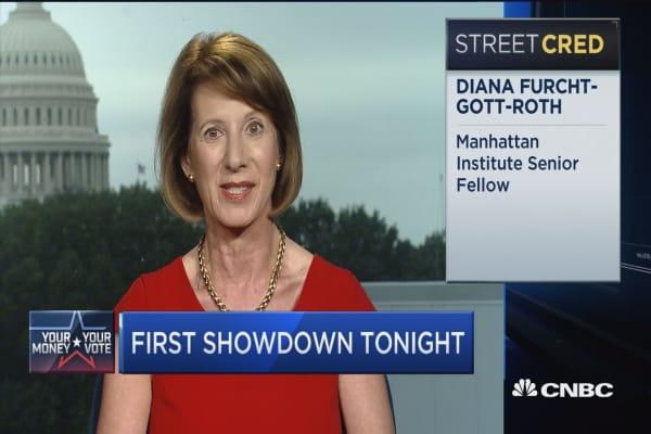 Economic plan showdown at debate