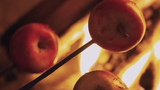 Apples over a flame