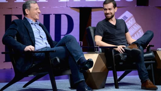 The Walt Disney Company Chairman and CEO Bob Iger, and Twitter Co-Founder and Chairman and Square CEO Jack Dorsey