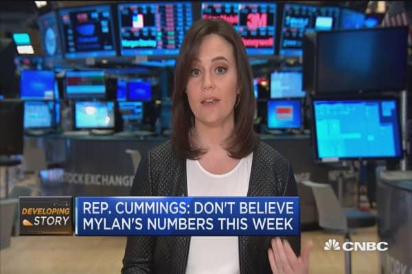 Rep. Cummings: Don't believe Mylan's numbers this year
