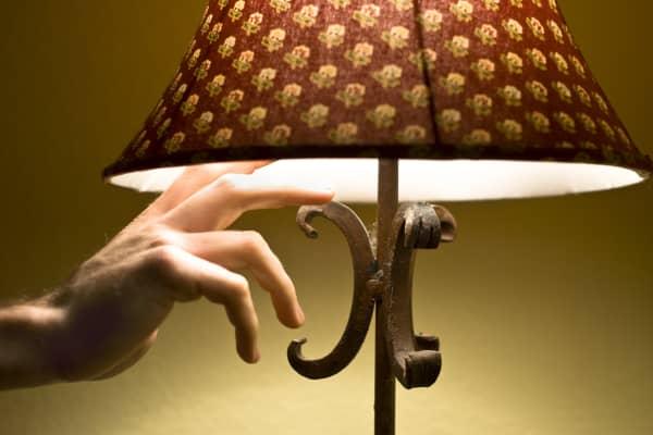 Turning off lamp, lights