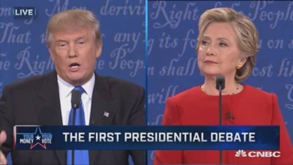 Trump: When she releases deleted emails, I'll release tax return