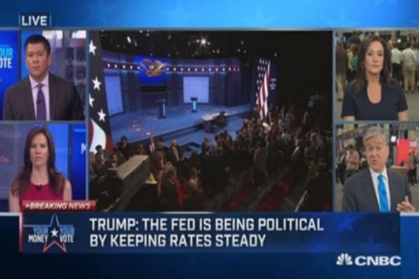 Was Trump presidential during debate?