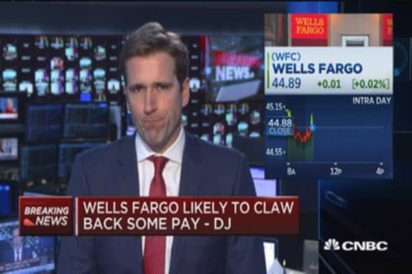Wells Fargo likely to claw back some pay -DJ