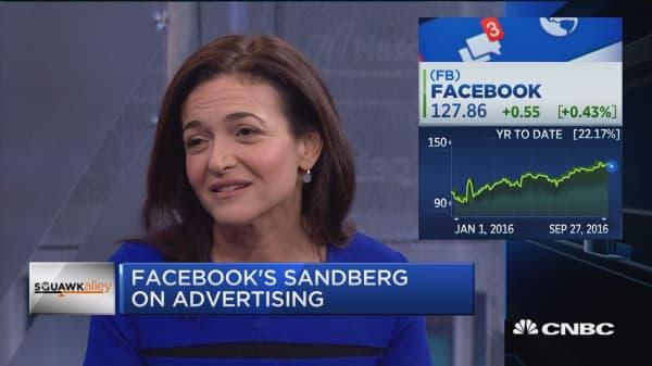 FB's Sandberg: We measure all the way through to sales