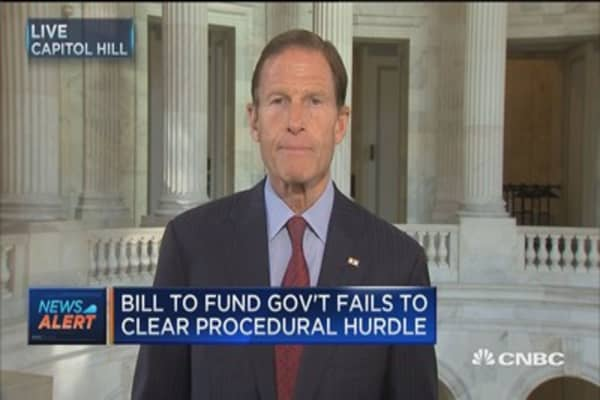 Sen. Blumenthal: Fully expect government to continue operating