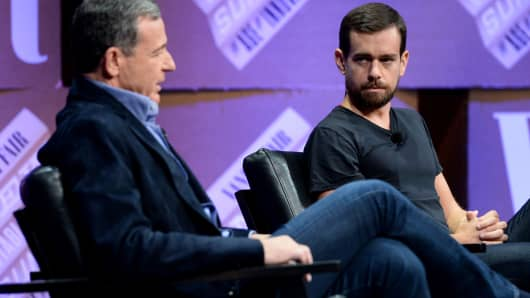 Disney CEO Bob Iger and Twitter CEO Jack Dorsey