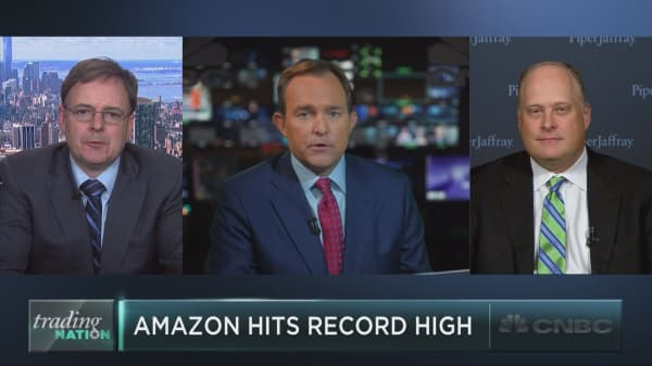 Amazon hits record high