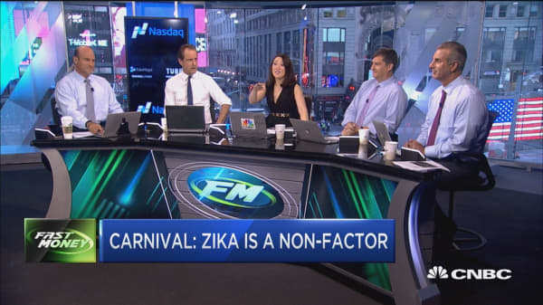 Carnival: Zika is a non-factor