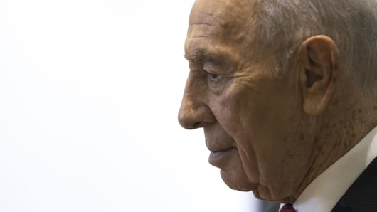 Former President of Israel, Shimon Peres.