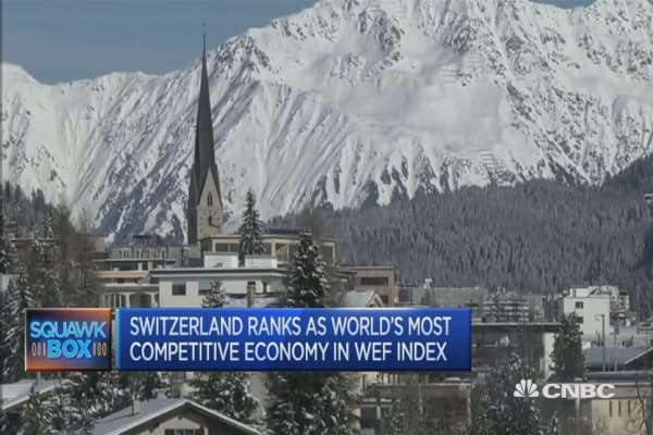 Switzerland named most competitive economy by the WEF