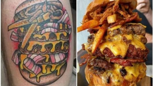 Free burgers for life with the purchase of a BurgerLove tattoo!