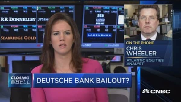 Does Deutsche Bank need a bailout?
