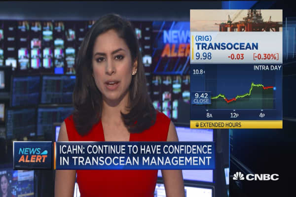 Icahn cuts Transocean stake to 1.5% from 5.9%