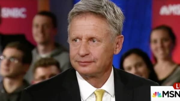 "Gary Johnson on MSNBC's ""Hardball with Chris Matthews,"" on September 29, 2016."