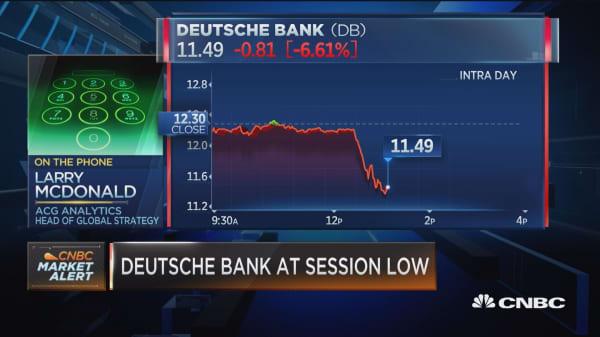 McDonald on Deutsche Bank: Similar dynamic to Lehman
