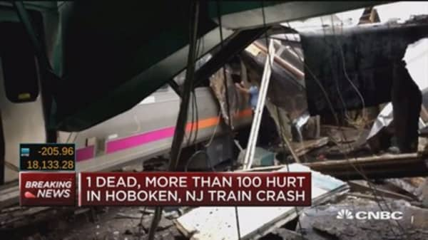 1 dead, 108 hurt in Hoboken crash : NJ Gov. Christie