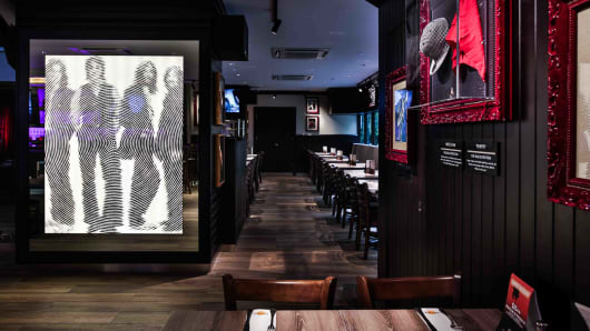 Hard Rock Cafe's newly renovated interiors on Cuscaden Road, Singapore