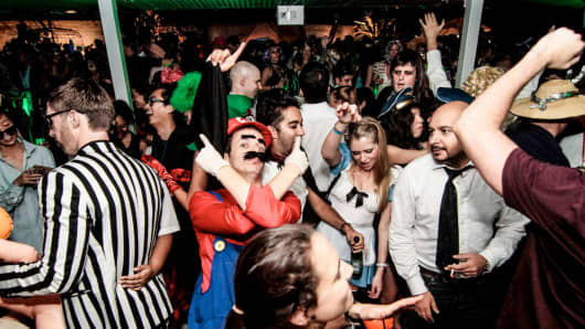 Partygoers at The Lo & Behold Group's annual Halloween party in Singapore.