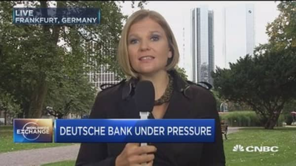 Deutsche Bank under pressure