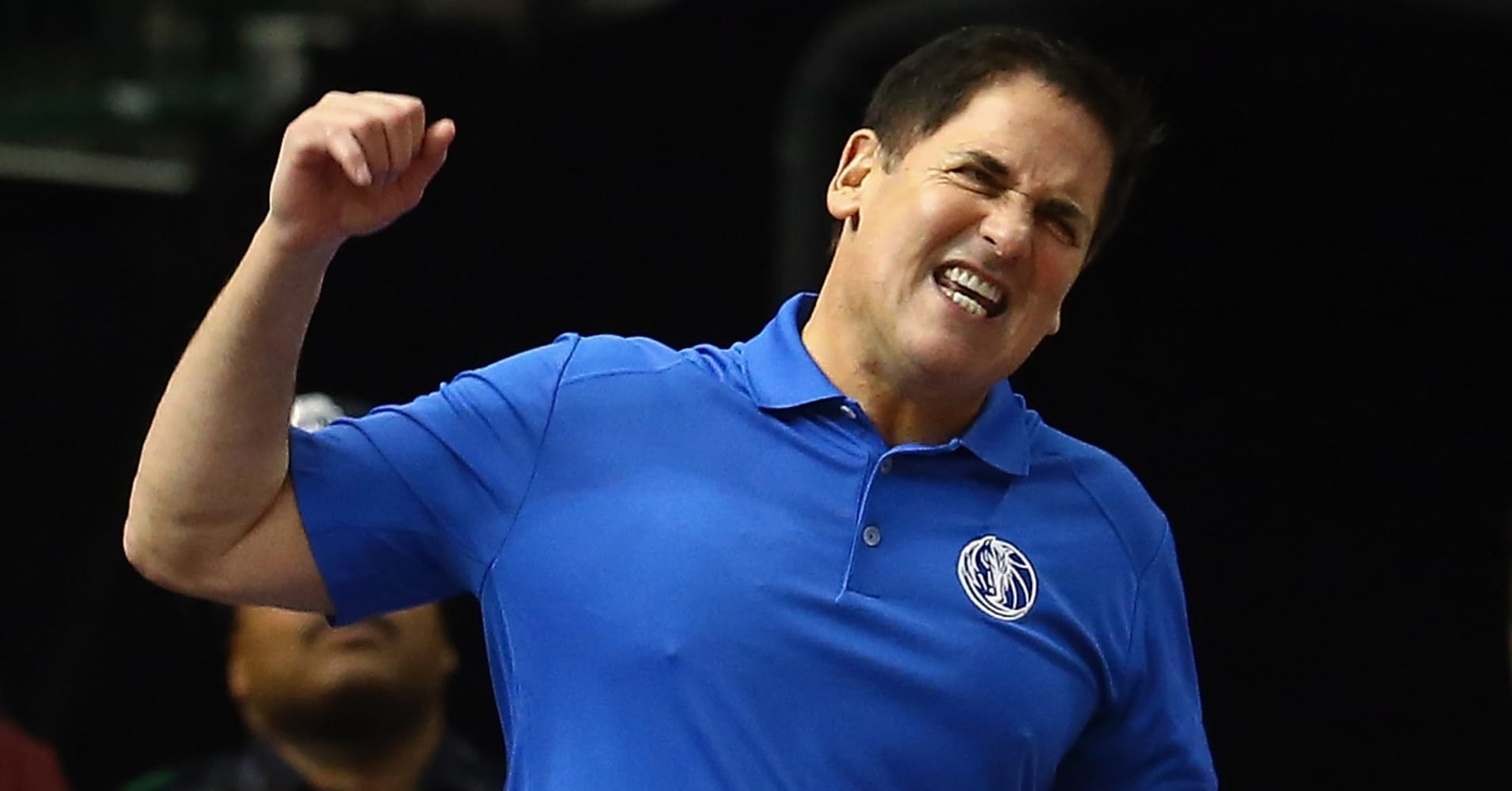 Mark Cuban, owner of the Dallas Mavericks, reacts during a play against the Chicago Bulls at American Airlines Center on January 23, 2015, in Dallas.