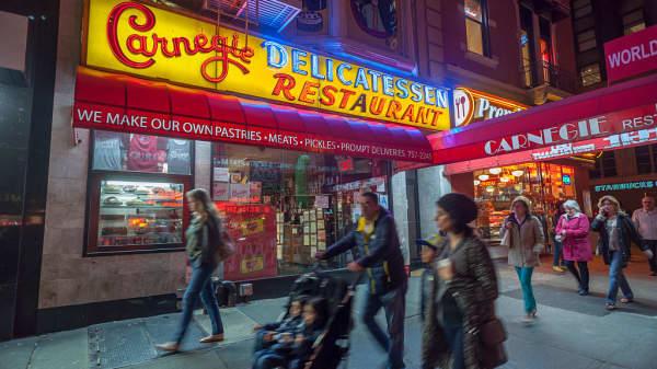 Carnegie Deli in Midtown in New York