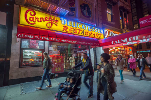 Carnegie Deli in Midtown in New York