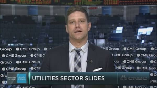 Utilities sector slides