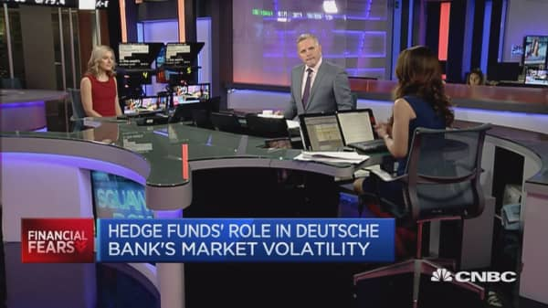 Hedge funds have shorted Deutsche Bank stock all year: Reporter