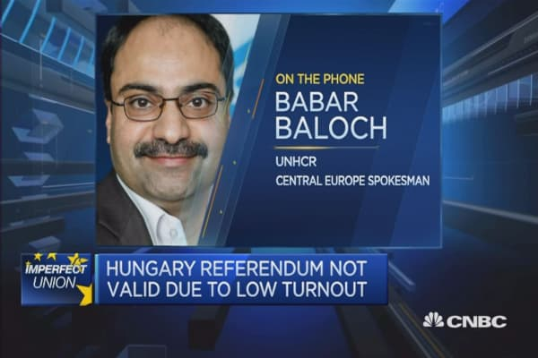 Hungary's referendum on migration quotas was disappoints: UNHCR spokesperson
