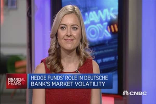 Did hedge funds contribute to Deutsche Bank instability?