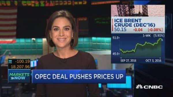 OPEC deal pushes prices up