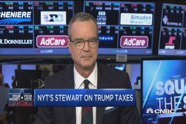 NYT's Stewart on Trump's taxes