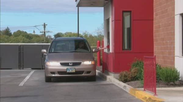 Fast food drive-thrus are slowing down