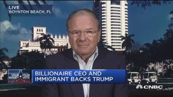 Billionaire CEO and immigrant backs Trump