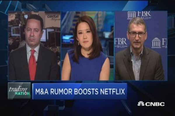 Trading Nation: M&A rumor boosts Netflix