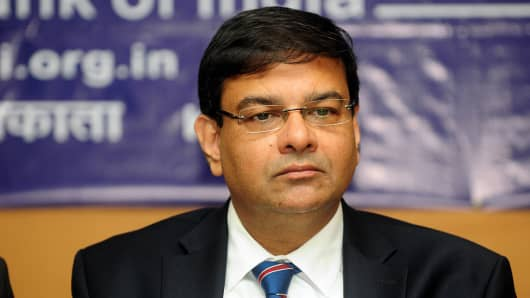 Urjit Patel, governor of the Reserve Bank of India.