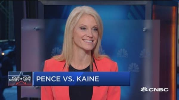 Pence will go after Clinton's record: Kellyanne Conway