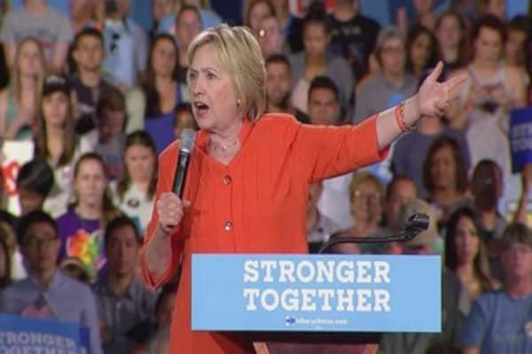 Clinton leading Trump in latest polls