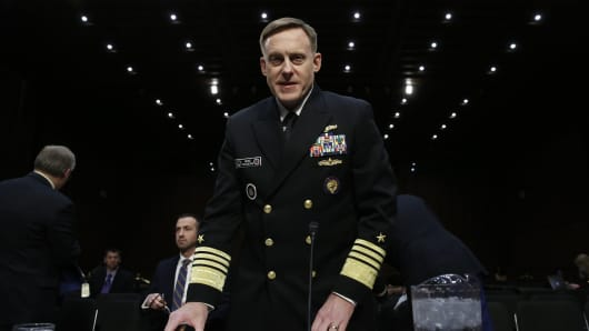 Navy Adm. Michael Rogers, commander of the US Cyber Command, director of the National Security Agency and chief of Central Security Services.