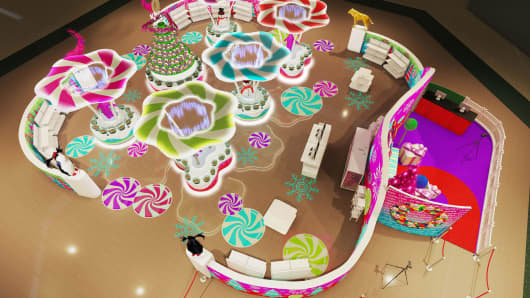 A model of the Winter Escape mall experience.