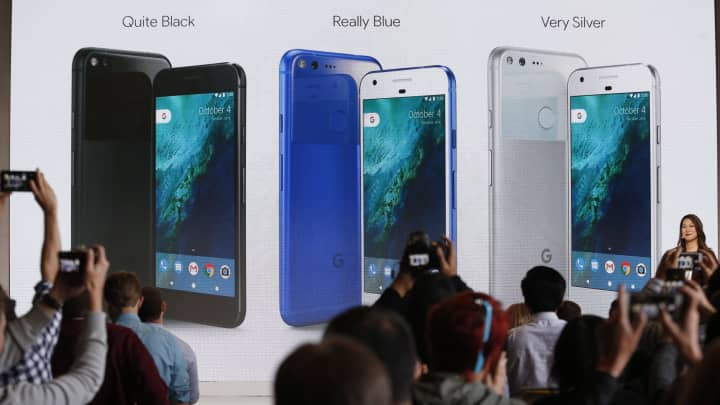 Sabrina Ellis, Director of Product Management at Google, speaks about the new Pixel phone during the presentation of new Google hardware in San Francisco, California, U.S. October 4, 2016.